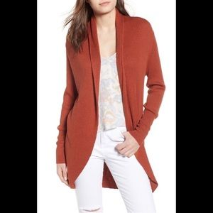 Leith Orange Open Front Cardigan Small